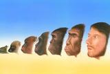 Human Evolution, Artwork Posters by Richard Bizley