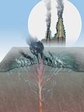 Underwater Volcanic Vents, Artwork Photographic Print by Henning Dalhoff