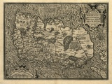 Ortelius's Map of Ireland, 1598 Posters by Library of Congress