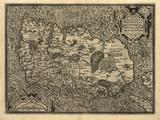 Ortelius's Map of Ireland, 1598 Premium Photographic Print by Library of Congress