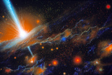 Artist's Impression of Active Galaxy M87 Posters by Julian Baum