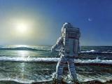 Astronaut Exploring An Alien Planet Photo by Chris Butler