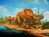 Cretaceous Dinosaurs Photographic Print by Chris Butler