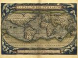 Ortelius's World Map, 1570 Papier Photo par Library of Congress