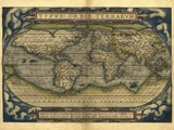 Ortelius's World Map, 1570 Premium Photographic Print by Library of Congress