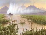 Silurian Landscape, Artwork Photographic Print by Richard Bizley