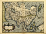 Ortelius's Map of Asia, 1570 Posters by Library of Congress