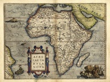 Ortelius's Map of Africa, 1570 Prints by Library of Congress