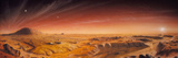Artwork of Mars Surface Panoroma Photographic Print by Chris Butler