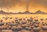 Early Stromatolites, Artwork Print by Richard Bizley