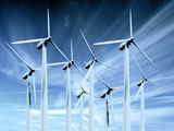 Wind Turbines Photographic Print by Victor Habbick