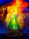Big Bang Chemistry, Conceptual Artwork Fotografisk tryk af Victor Habbick