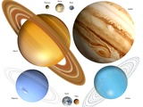 Solar System Planets Prints by Victor Habbick