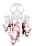 Swine Flu Protection, Conceptual Image Poster by Victor Habbick
