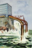 Wave Energy, Futuristic Artwork Photographic Print by Chris Hellier