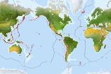 Volcano Distribution Map Papier Photo par Gary Hincks