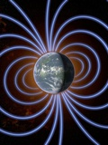 Earth's Magnetic Field Print by Roger Harris