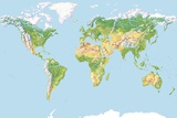 World Land Cover, Global Map Photographic Print by Gary Hincks