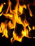 Burning Coal Fotografisk tryk af Tek Image