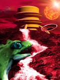 Alien Landscape Affiche par Victor Habbick