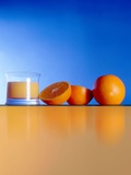 Oranges And Orange Juice Photographic Print by Victor Habbick