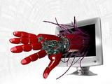 Technophobia, Conceptual Artwork Fotografisk tryk af Victor Habbick