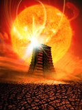 End of the World In 2012 Conceptual Image Photographic Print by Victor Habbick
