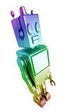 Retro Robot, Artwork Photographic Print by Victor Habbick