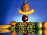 Selection of Fruit, Part of a Healthy Diet Poster by Victor Habbick