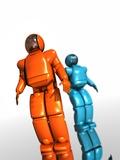 Humanoid Robots, Artwork Premium Photographic Print by Victor Habbick