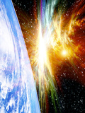 Solar Flare Threatening Earth Photographic Print by Victor Habbick