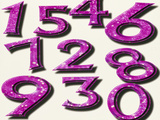 Computer Artwork of Numbers 0-9 Used In Numerology Photographic Print by Victor Habbick