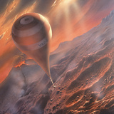 Artist's Impression of a Venus Atmosphere Probe Photographic Print by David Hardy