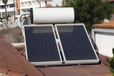 Solar Water Heater Photographic Print by Steve Horrell