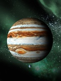 Jupiter And Earth, Artwork Photographic Print by Victor Habbick