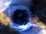 Black Hole, Conceptual Artwork Premium Photographic Print by Victor Habbick