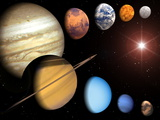 Solar System Photographic Print by Roger Harris