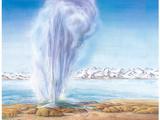 Geyser Erupting, Artwork Photographic Print by Gary Hincks