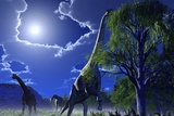 Brachiosaurus Dinosaurs, Artwork Prints by Roger Harris