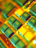View of a Circuit Board From a Macintosh Computer Photographic Print by Steve Horrell