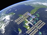 International Space Station Premium Photographic Print by Roger Harris