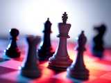Chess Pieces Photographic Print by Tek Image