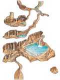 Cave System, Artwork Photographic Print by Gary Hincks
