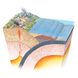 Accretionary Prism At a Subduction Zone Photographic Print by Gary Hincks