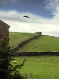 UFO Sighting Premium Photographic Print by Richard Kail