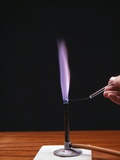Potassium Flame Test Photographic Print by Andrew Lambert
