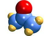 Acetone Molecule Photographic Print by Dr. Mark J.
