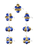 4f Electron Orbitals, General Set Prints by Dr. Mark J.