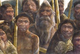 Homo Heidelbergensis Family, Artwork Photographic Print by Kennis and Kennis