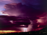 Thundercloud with Lighning And Rain, Arizona. Photographic Print by Keith Kent